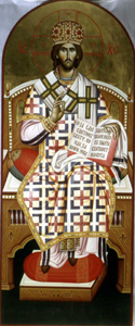 Decorative icon for the archbishop's throne, hand-painted 1999